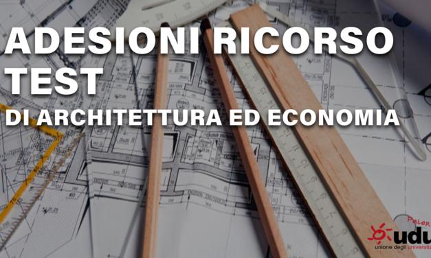 Adesione ricorsi architettura ed Economia