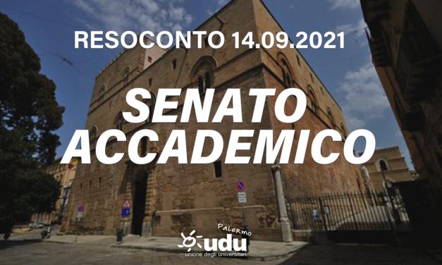 Resoconto del senato accademico del 14/09/2021